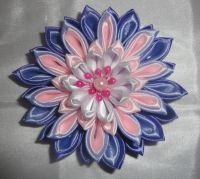 Красивые и нарядные украшения для маленьких леди. Красивые цветы канзаши, смотрятся празднично и могут подойти к любому наряду. Каждый заказ обсуждается индивидуально и выполняется в максимально короткие сроки. Цвет может быть любой по желанию (по возможности, в зависимости от наличия цвета лент). Отделка цветка (середина) может отличаться от фото. Цветок сделан на резинке, по индивидуальному желанию можно сделать под обруч, заколку-крокодил. Диаметр цветка 9см.