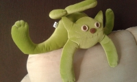 """Интерьерная подушка """"Кот Баксик"""" (авторская ручная работа); зеленый, позитивный, уютный. Можно использовать как подушку для авто.  Ткань - микровельвет насыщенного лаймового цвета.Наполнитель - холлофайбер.   Под заказ  Возможен пошив из другой ткани, другого цвета."""