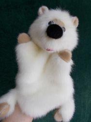 Медвежонок,игрушка - перчатка для домашнего кукольного театра.Выполнен из искусственного меха,легко стирается.Работа авторская,повтор возможен.Размер подходит для женской и детской (7 - 10 лет) руки.
