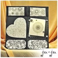 """Стильная и креативная """"бесконечная"""" открытка Больше открыток тут: https://vk.com/otkryitki_juju https://www.facebook.com/jujumagiccards Открытки Ju-Ju приносят счастье!"""
