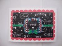 Открытка ручной работы ( будто нарисованная мелками),изготовлена из дизайнерского картона и дизайнерской бумаги,размер 9,5 х 13,5 см