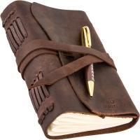 Блокнот кожаный с ручкой