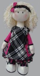 Интерьерная, текстильная кукла. Ручная работа. Материалы: Трикотаж(65% вискоза), шерсть, батист, сатин, кож. зам, шерстяные нитки, холлофайбер. Рекомендации по уходу: Сухая чистка.