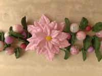 Браслет ручной работы из полимерной глины в нежных розовых тонах