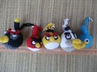 """Брелок """"Angry Birds"""" из известной игры. Выполнен из акриловой пряжи. Цена указана за одну штуку."""