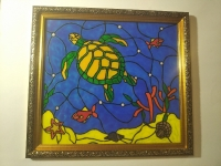 Черепаха_2 картина витраж.