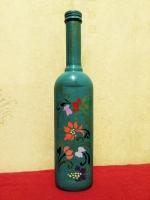 декоративная бутылка ручной работы в технике росписи акриловыми красками. Бутылка может использоваться по назначению или как декор интеръера