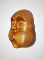 """Деревянный сувенир ручной работы, интерьерная маска """"Зной"""""""
