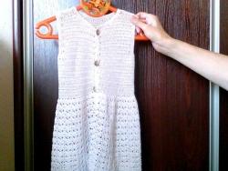 детские платья крючком из хлопка и пряжи бамбук
