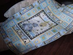 """детское лоскутное одеяло """"Мишка сластена"""""""
