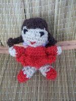Маленькая куколка с крылышками. Можно брелочек сделать, можно посадить куколку на компьютер или как игрушка для детей. Выполнена из хб и акрила, наполнитель - холофайбер.