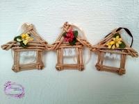 Домики - подвески,милый декор или маленький сувенир.Высота 10 см. В наличии.