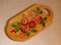 Кухонна дошка ручної роботи, оздоблена технікою петриківський розпис. Прекрасний подарунок. Зроблено з любов′ю.