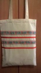 Очень удобная, стильная и современная эко-сумка. Сочетание европейского стиля и Украинских мотивов. Hand made.В ассортименте.