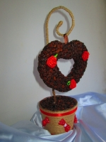 Эксклюзивный подарок любимой - валентинки из зерен кофе