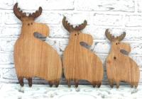 Фігурки ТРИ ЛОСЯ, з дерева, ручної роботи.