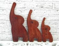Фігурки ТРИ СЛОНА, з дерева, ручної роботи.