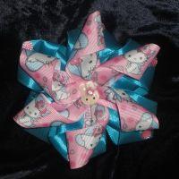 Бантик на резиночке Спиралька Hello Kitty