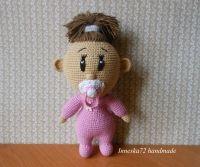"""Іграшка амігурумі """"Дівчинка"""" Мила, кумедна малеча шукає вірного і відданого друга. Прекрасний подарунок для дітей. Лялька зв"""