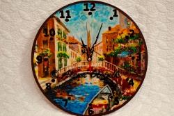 Часы настенные, декупаж+роспись, под заказ. Воплощу любую Вашу идею, чтобы часы стали не только эксклюзивным, но и индивидуальным подарком, с учетом вкуса и предпочтений получателя.
