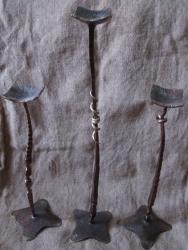 комплект из трех подсвечников под свечу-шар