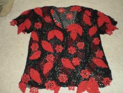 Нарядная блуза,выполнена в стиле ирландского кружева,хлопок с вискозой и люрексом.р-р 48-50