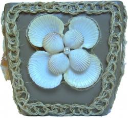 Подарок. Горшок для цветов Морское воспоминание ручной работ