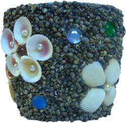 Подарок ручной работы Цветочный горшок На морском пляже