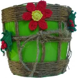 Рождественский цветочный вазон Тень на плетень