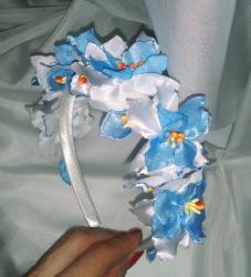 Обруч из шелка украсит Ваш образ и может стать прекрасным подарком!
