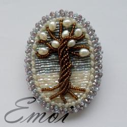 Брошь-миниатюра «Зимнее древо»