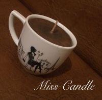 Свеча в чашке-оригинальный подарок на любое для вас важное событие в жизни. Возможно изготовление с ароматами шоколада, ванили, молоко и мёд