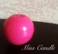 Свеча-шарик. Милая идея специально для вас. Возможно изготовление разных цветов и ароматов