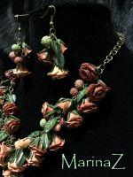 """Комплект """"Розовые розы"""""""