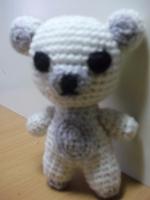 Белый медвеженок размером 10см прекрасная милая игрушка.