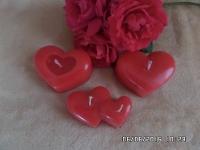 Свечи-сердца d-7*5 с легким вишневым ароматом будут красивым украшением романтического вечера.Идея для подарка родным и близким.