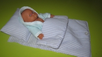 Постель для пупсов. Простынь, подушка, одеяло. Ручная работа! Цвет по желанию. Большой ассортимент.