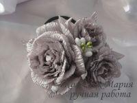 Композиция Гофрированная роза (основа на выбор)