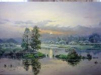Картина написана маслом на холсте 40 на 60 без рамы качественными красками Мастер Класс