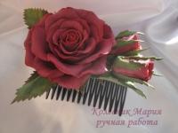 Красивые и нарядные украшения как для маленьких леди, так и взрослых принцесс. Красивые цветы, смотрятся празднично и могут подойти к любому наряду. Каждый заказ обсуждается индивидуально и выполняется в максимально короткие сроки. Цветок (представленный на фото) сделан на гребне из фоамирана (пластичная замша), по индивидуальному желанию можно сделать под обруч, заколку-автомат, резинку и т.д. Под заказ можно сделать любой цвет розы (обсуждается индивидуально). Размер украшения: размер гребешка 7,5 х 4,5см, размер работы 11х8см (размер приблизительный). Оплата на карту, предоплата 100%. Отправка Новой Почтой, ИнТайм, Укрпочтой. Доставку оплачивает покупатель, кроме Укрпочты.