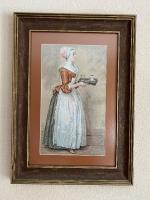 Картина ручной работы - вышивка крестом «Шоколадница»