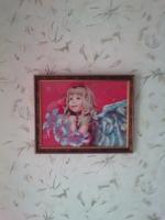 Картина вышита бисером Ангелок.
