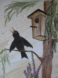 Картина в технике Ошибана, из природного материала.