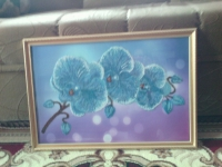 картина бисером Орхидея.