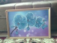 картина бисером Орхидея для вашего интерьера офиса  и тд.