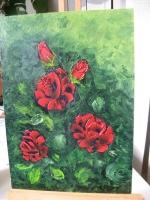 Картина маслом Букет Роз. Букет троянд