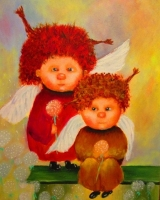 Катрина маслом Рыжие ангелы (по мотивам Чувиляевой)