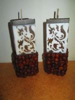 Кофейные свечи с росписью. Ручная работа