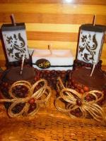 Кофейные свечи сувенир, подарок, декор из зерен кофе