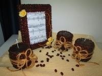 Кофейный набор: фоторамка и свечи